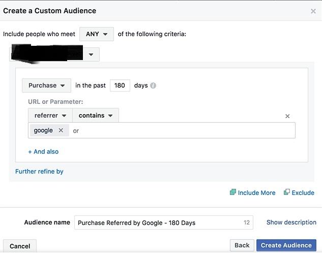 Audiencias referidas por Google