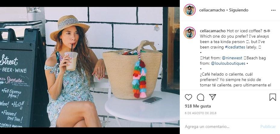 Foto tomada de la cuenta de Instagram de Celia