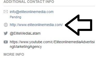agrega el link de tu sitio web y otros perfiles