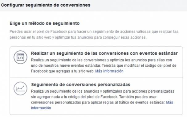 configuracion de conversiones