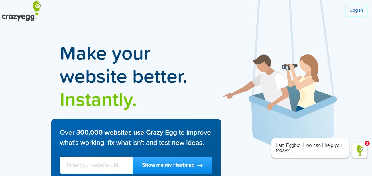 crazy egg  herramienta de marketing digital