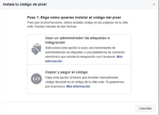instalar el facebook pixel en web