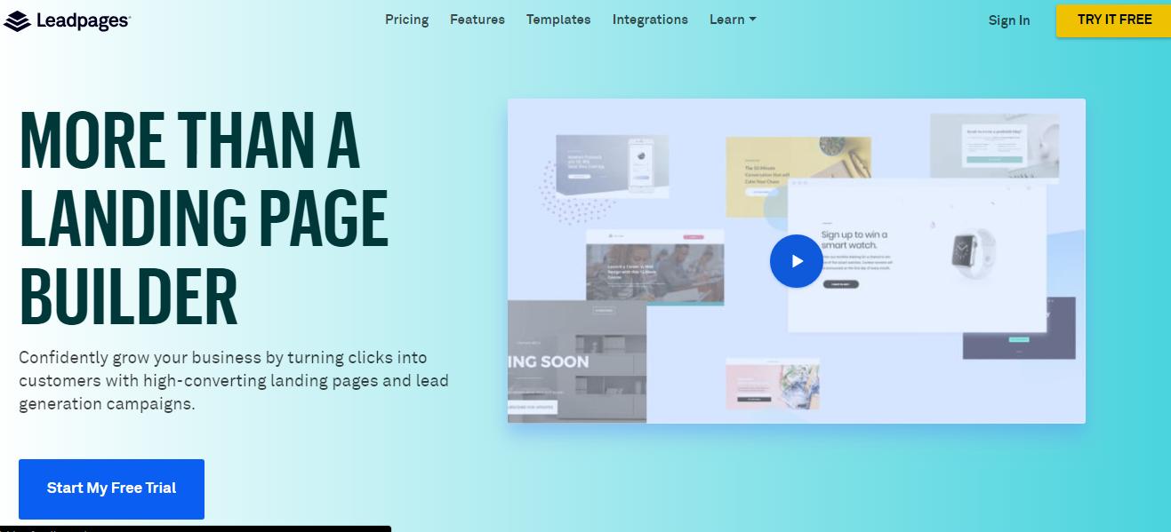 leadpages herramienta de marketing digital y presencia en linea