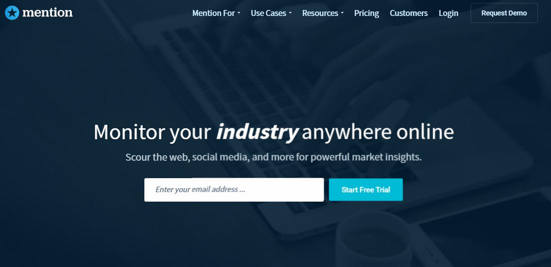mention herramienta de marketing digital y presencia en linea