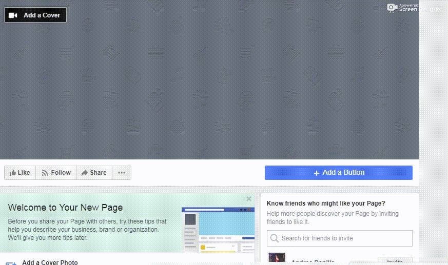 pagina facebook cover