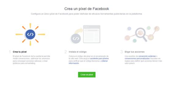 paso para crear el facebook pixel