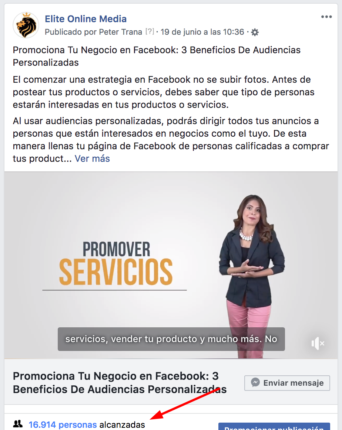 alcance en facebook