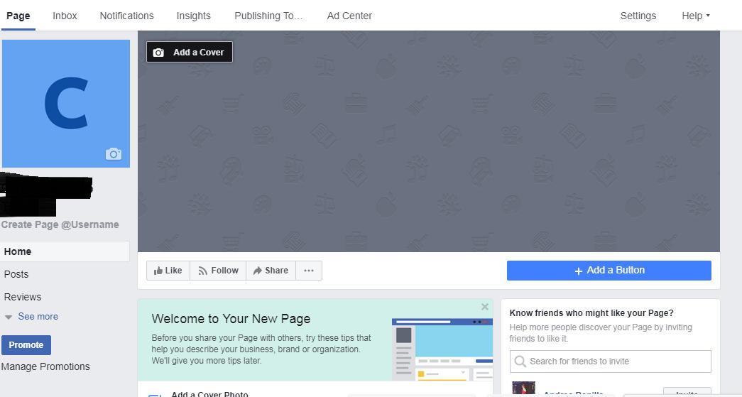 rellenar espacios de la pagina de Facebook de tu empresa