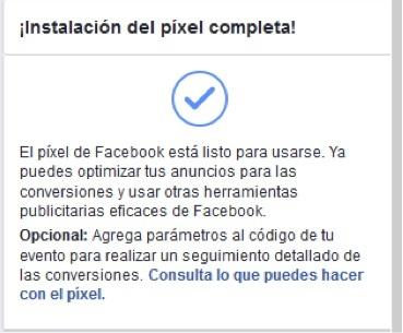 verificar instalación del Facebook pixel