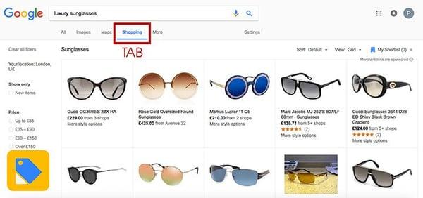google-shopping-tab