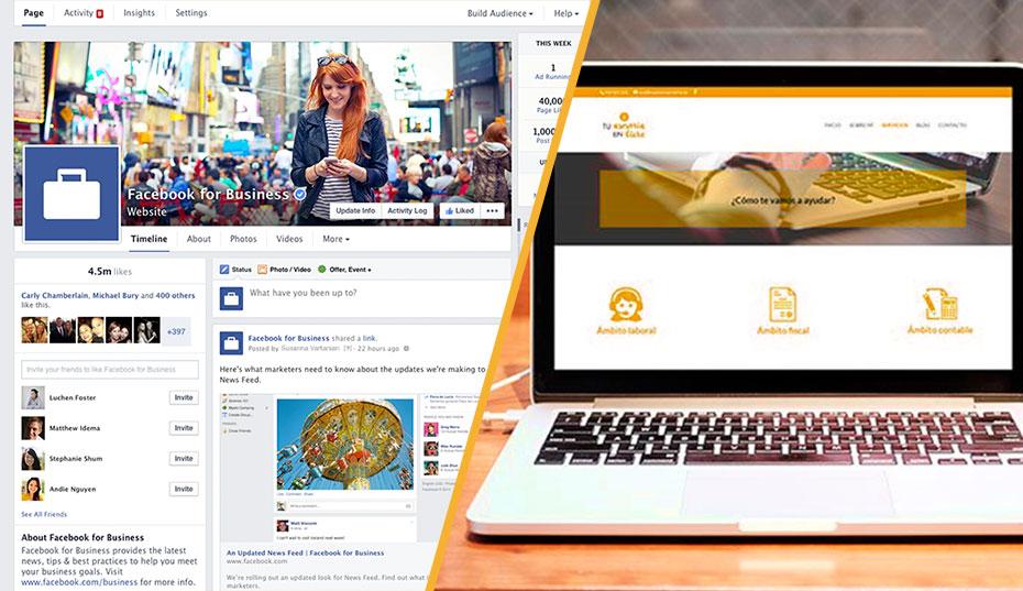 Página de Facebook vs Página Web